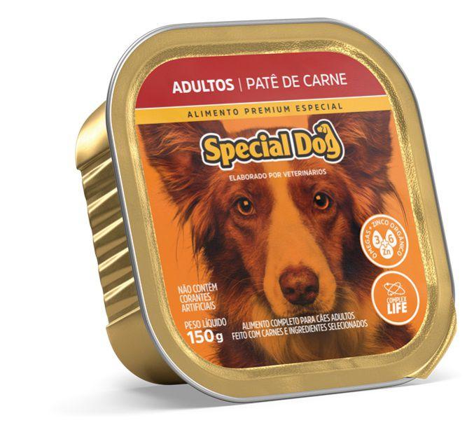 Ração Úmida Special Dog Patê Carne Cães Adultos 150Gr