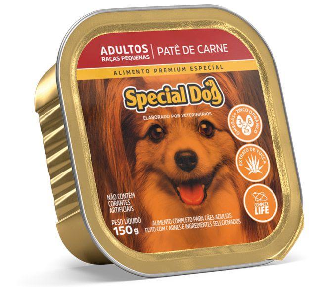 Ração Úmida Special Dog Patê Carne Cães Adultos Raças Pequenas 150Gr