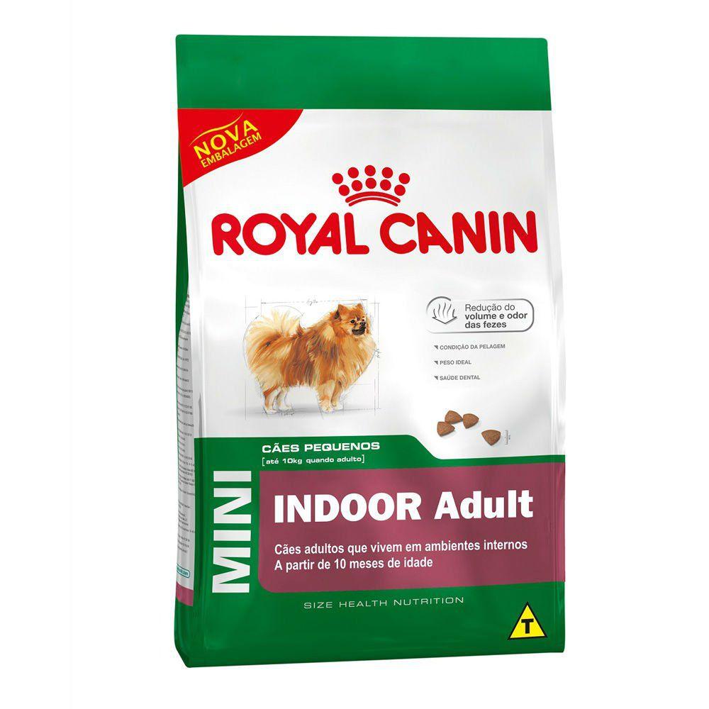 Ração Royal Canin Cães Mini Indoor Adulto - 7,5 KG