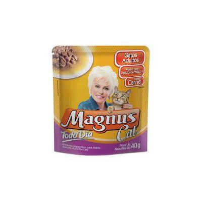 SACHE MAGNUS CAT TODO DIA CARNE 40G