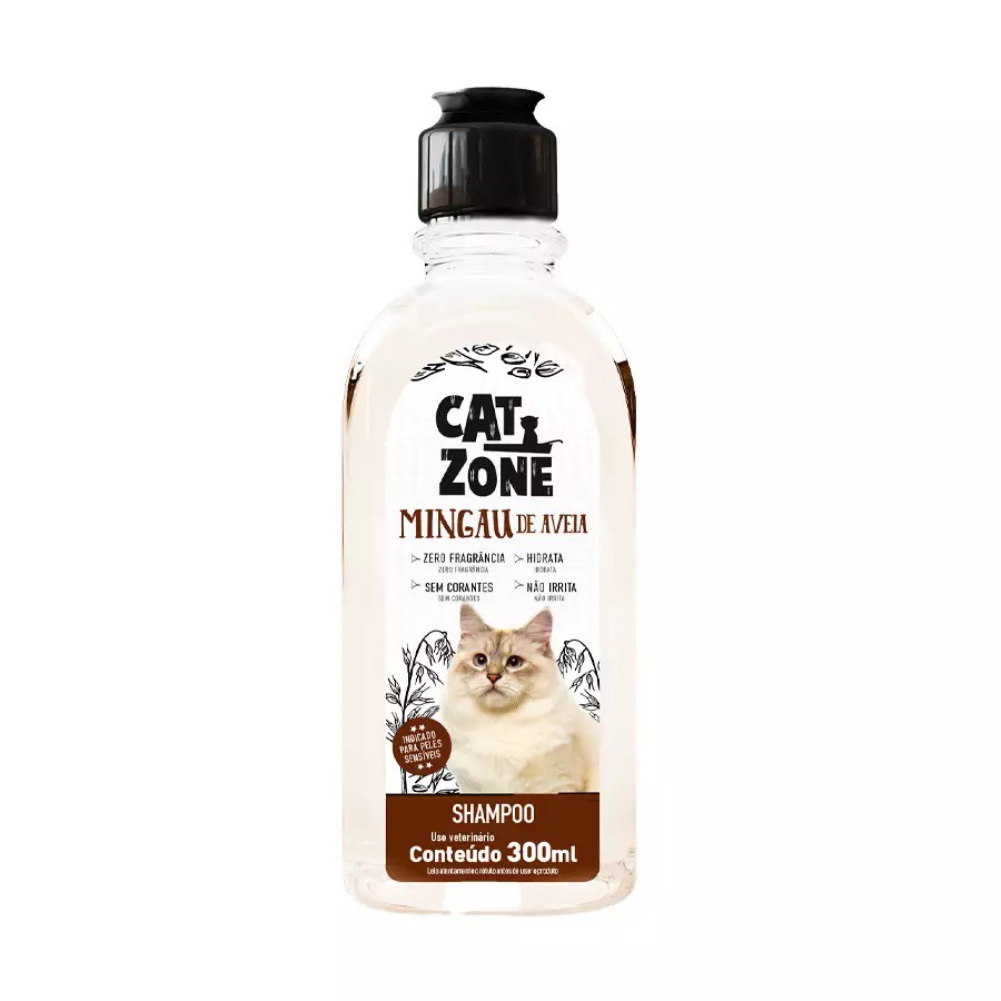 Shampoo Cat Zone Mingau de Aveia para Gatos 300ml