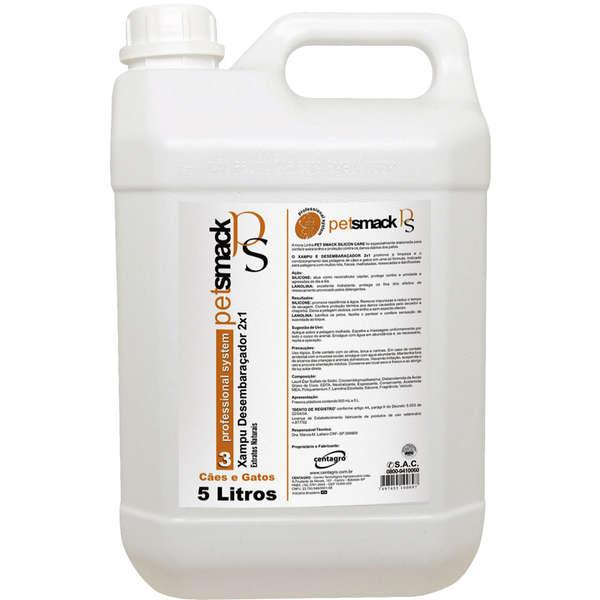 Shampoo Desembaraçador 2x1 5 Litros Pet Smack