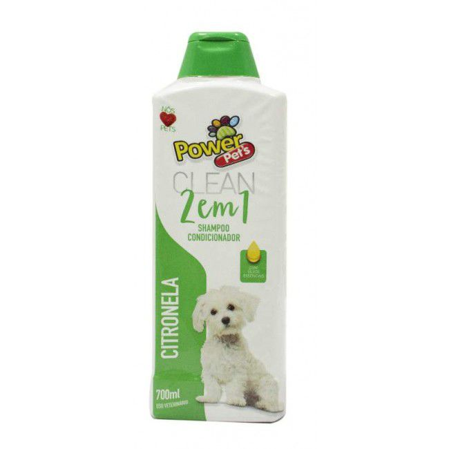 SHAMPOO POWERPETS CITRONELA 700ML