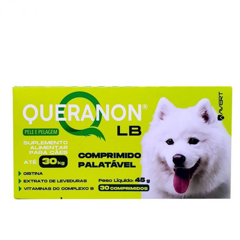 Suplemento Alimentar Avert Queranon Cães até 30 Kg 30 Comprimidos