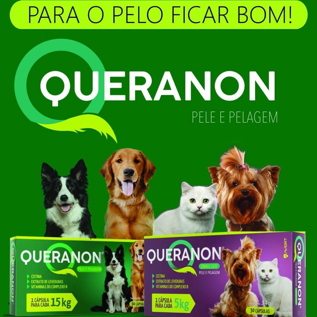 Suplemento Avert Queranon para Cães - 15 Kg 30 Capsulas