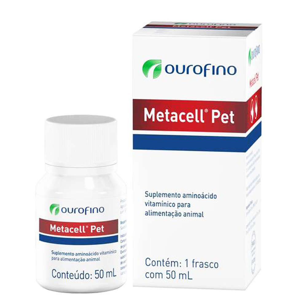 Suplemento Ouro Fino Metacell Pet - 50 mL