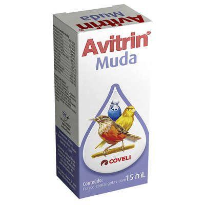 Suplemento Vitaminico Coveli Avitrin Muda para Pássaros e Aves Ornamentais 15ml