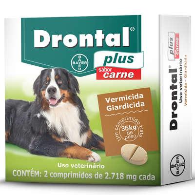 Vermífugo Drontal Plus para Cães de 35 kg 2 Comprimidos