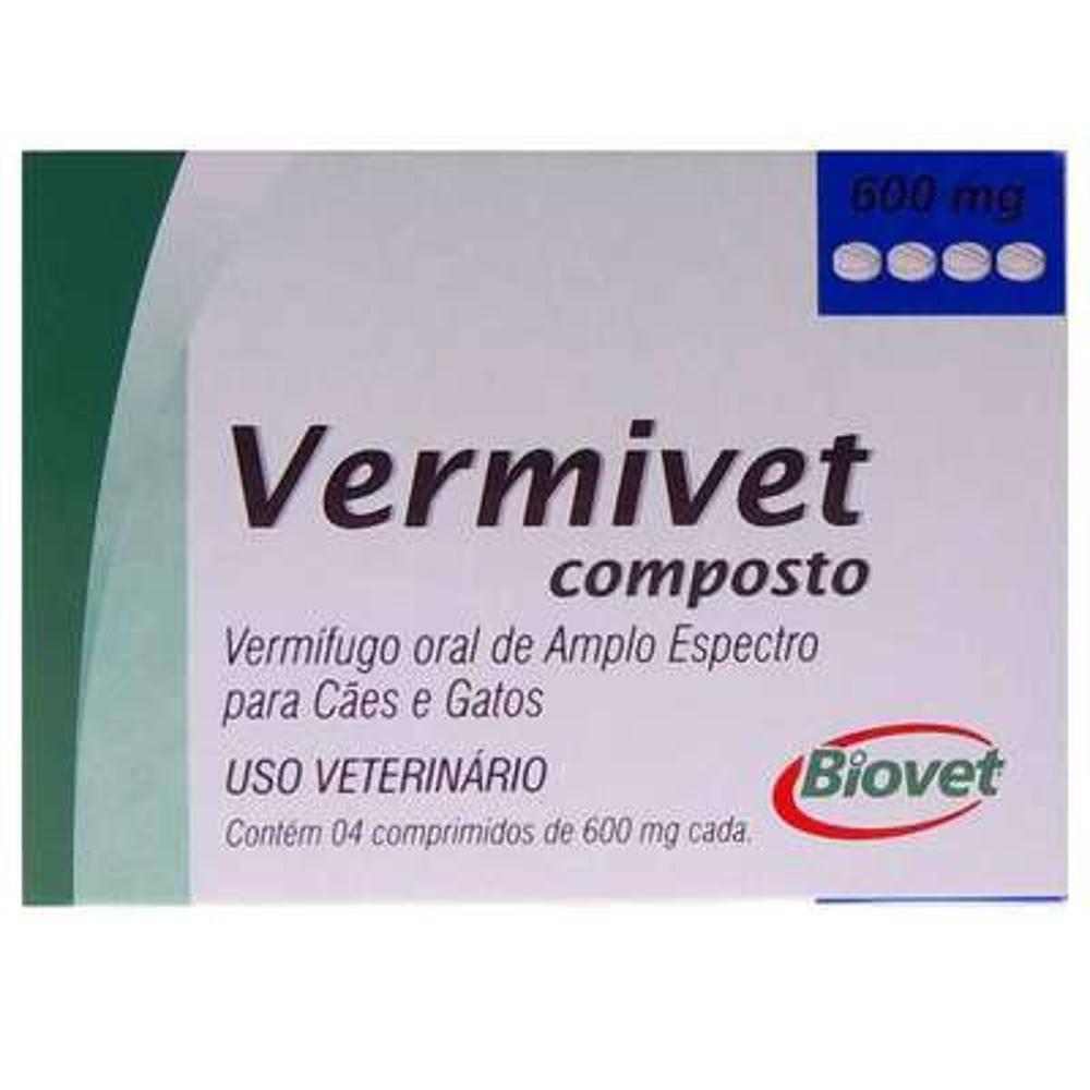 Vermífugo Vermivet Composto 600 mg