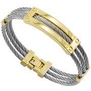 Bracelete de Aço Inox 316L Modelo Cabo Náutico