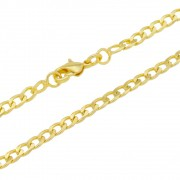 Corrente Grumet Folheada a Ouro 18k com 50cm
