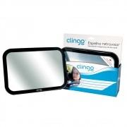 Espelho Retrovisor Retangular Square Para Carro Clingo