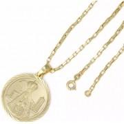 Kit Medalha Nossa Senhora Aparecida com Corrente Cartier 2mm e 60cm
