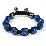 Pulseira Bracelete Shambala Cor Azul