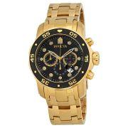 695679b1aec para homens relogio invicta original modelo 0072 banhado a ouro ...