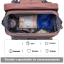 Berço Cama Portátil LandCrib para bebê dormir Dobrável Cinza Com Rosa Mommy Bag