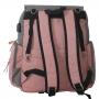 Mochila Maternidade Mommy Bag Executive Cinza Com Rosa Com Trocador e USB