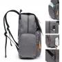 Mochila Maternidade Mommy Bag Executive Cinza Com Trocador e USB