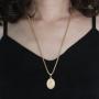 Pingente Mãe Rainha Com Corrente Rede Folheada a Ouro 18k