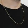 Pingente Medalha Anjo da Guarda Com Corrente Veneziana Folheada a Ouro 18k