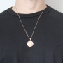 Pingente Medalha de São Jorge Com Corrente Veneziana Folheado a Ouro Rosê