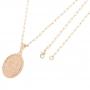 Pingente Medalha Santa Rita Com Corrente modelo francesa Longa Folheado a Ouro Rosê