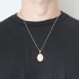 Pingente Medalha São Cristovão Com Corrente Veneziana Folheado a Ouro Rosê