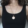 Pingente São Bento Diamantado Com Corrente modelo francesa Longa Folheado a Ouro Rosê