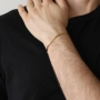 Pulseira Folheada a Ouro 18k Modelo Cadeado Quadrada