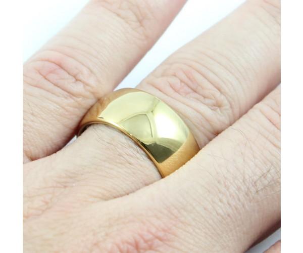 Aliança Avulsa de Tungstênio com 10mm de Largura Modelo Tradicional Abaulada Gold