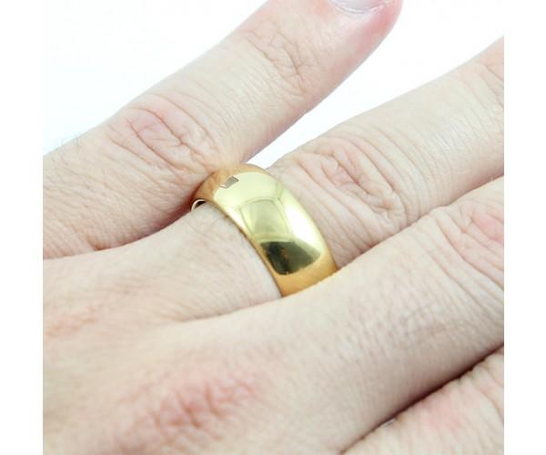 Aliança Avulsa de Tungstênio com 8mm de Largura Modelo Tradicional Gold