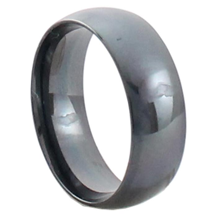 Aliança de Aço Inox com banho PVD Titânio Black