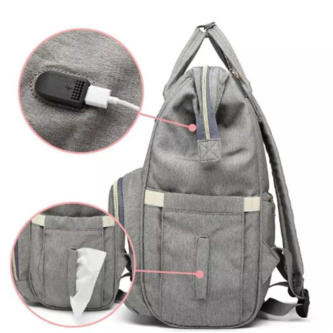 Bolsa/Mochila Maternidade AOERFU Lequeen Original Com USB e Impermeável