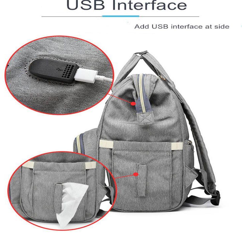 Bolsa/Mochila Maternidade Lequeen Original Com USB e Impermeável