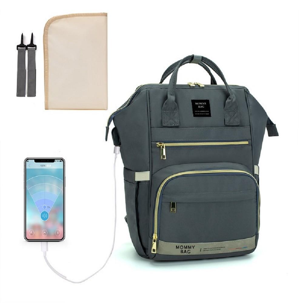 Bolsa/Mochila Maternidade Mommy Bag Com USB e Impermeável Com Trocador Modelo Premium