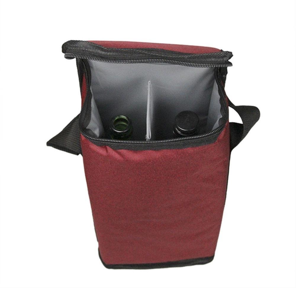 Bolsa/Sacola Térmica Portátil Para Transporte de Garrafas de Vinho - Porta Bebida - WineBag Duplo