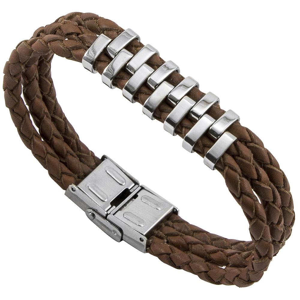 Bracelete de Aço Inox 316L Marrom