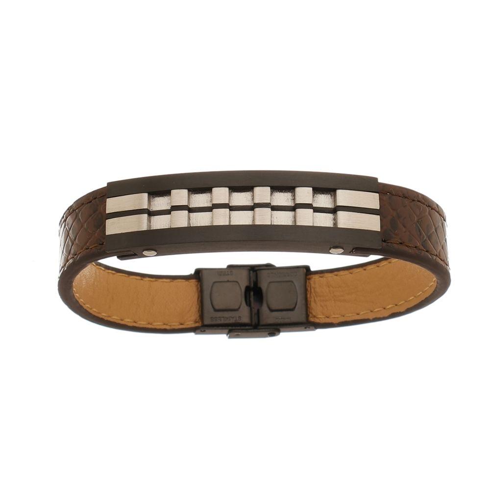 Bracelete de Aço Inox Black com 13mm de Largura