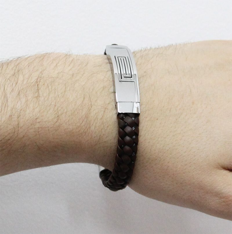 Bracelete de Aço Inox com 12mm de Largura