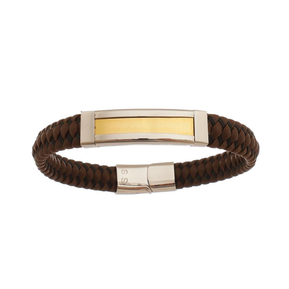 Bracelete de Aço Inox Gold com 11mm de Largura