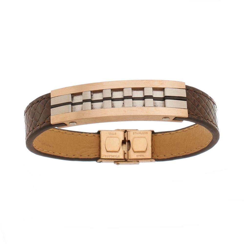 Bracelete de Aço Inox Rosê com 13mm de Largura