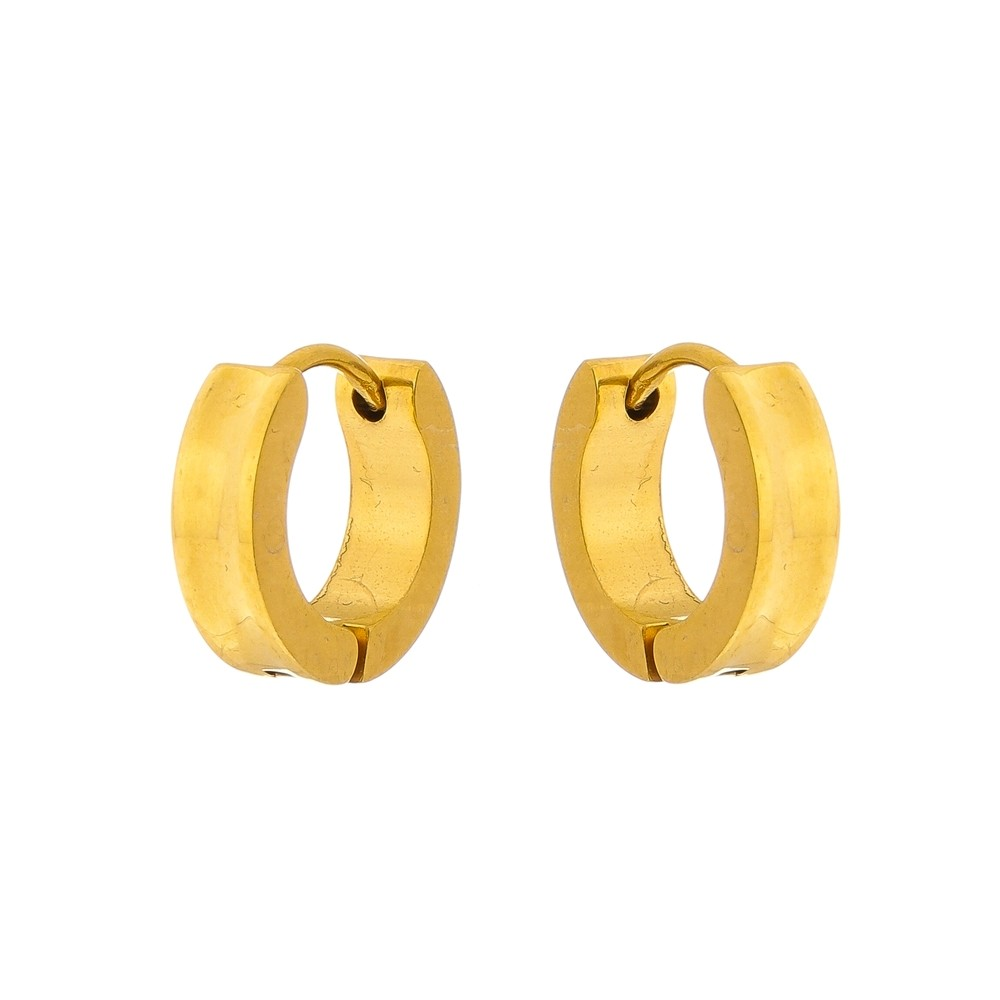 Brinco Dourado de Aço Inox Modelo Argola