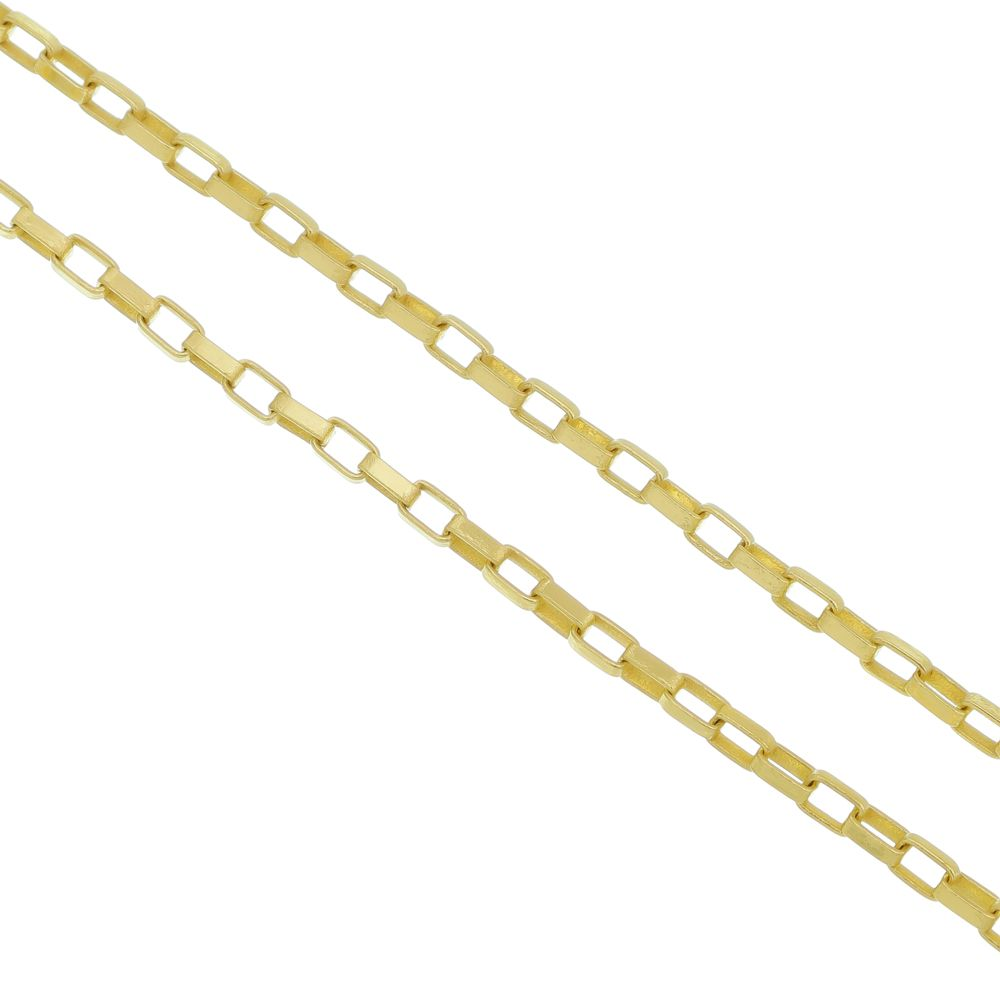 a72b40b3deb Corrente Cartier 2mm Folheado a Ouro 18k - Tudo Jóias - Belas Jóias ...