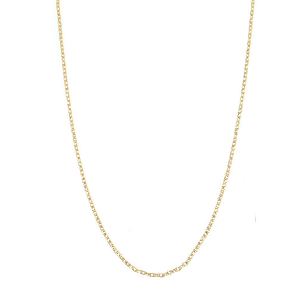 Corrente modelo francês Diamantado Folheada a Ouro 18k