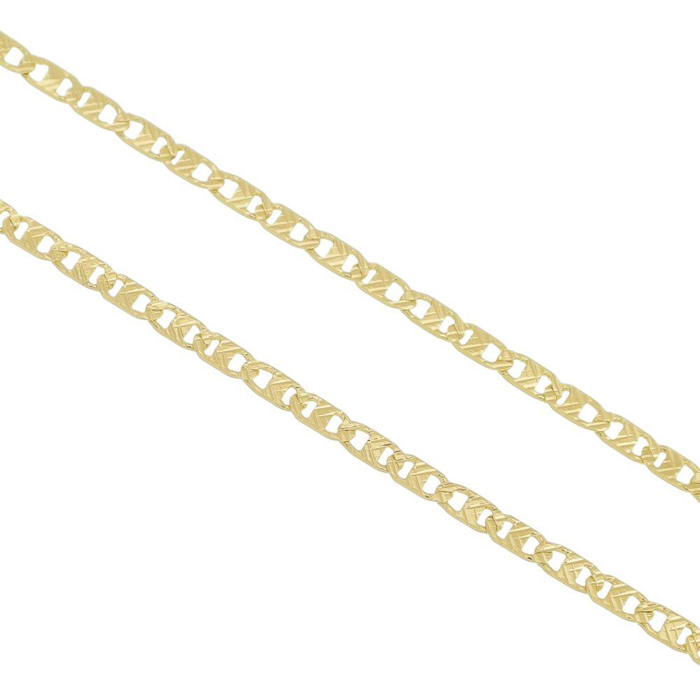 0da5f932f0f Corrente Cartier Francês 5mm Folheado a Ouro 18k - Tudo Jóias ...