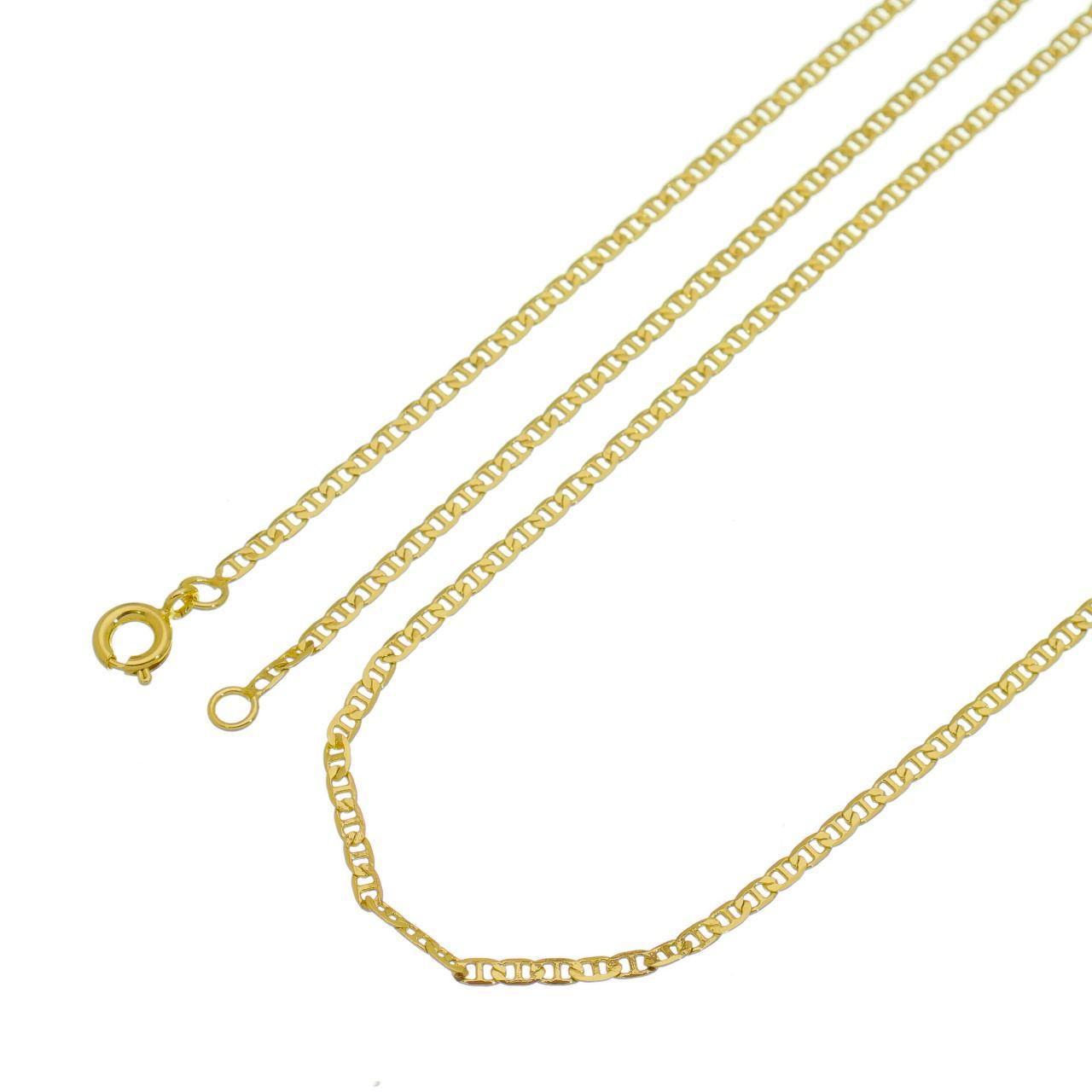 7613142f67b Corrente Cartier Francês Folheado a Ouro 18k - Tudo Jóias - Belas ...