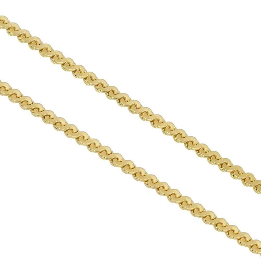 Corrente Folheada a Ouro 18k Modelo  Cabelo de Anjo