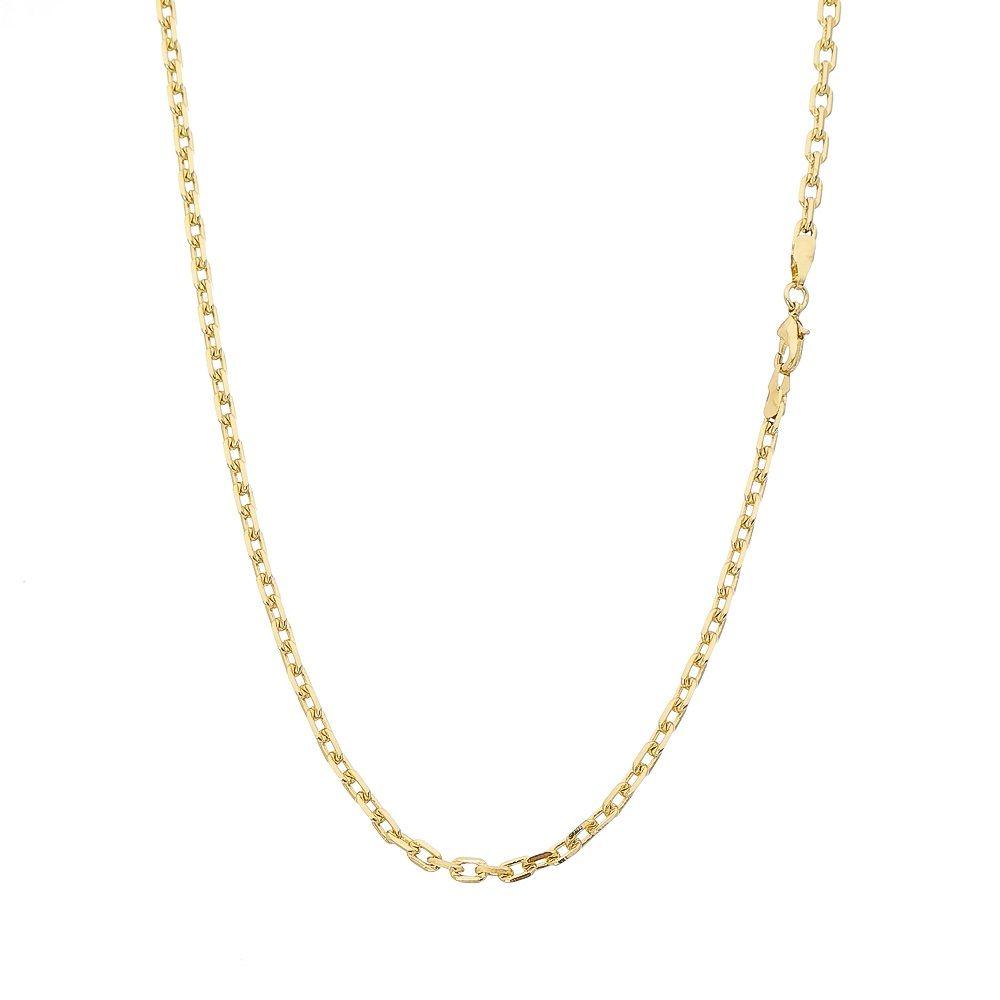 Corrente Folheada a Ouro 18k Modelo Cartier