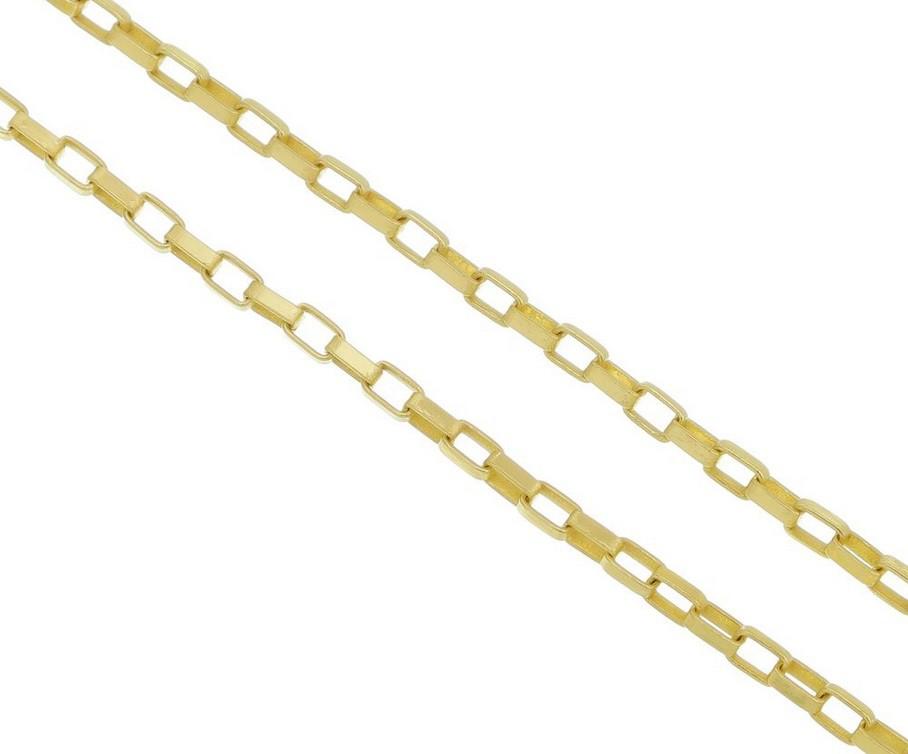 Corrente francês 2mm Folheado a Ouro 18k 70cm