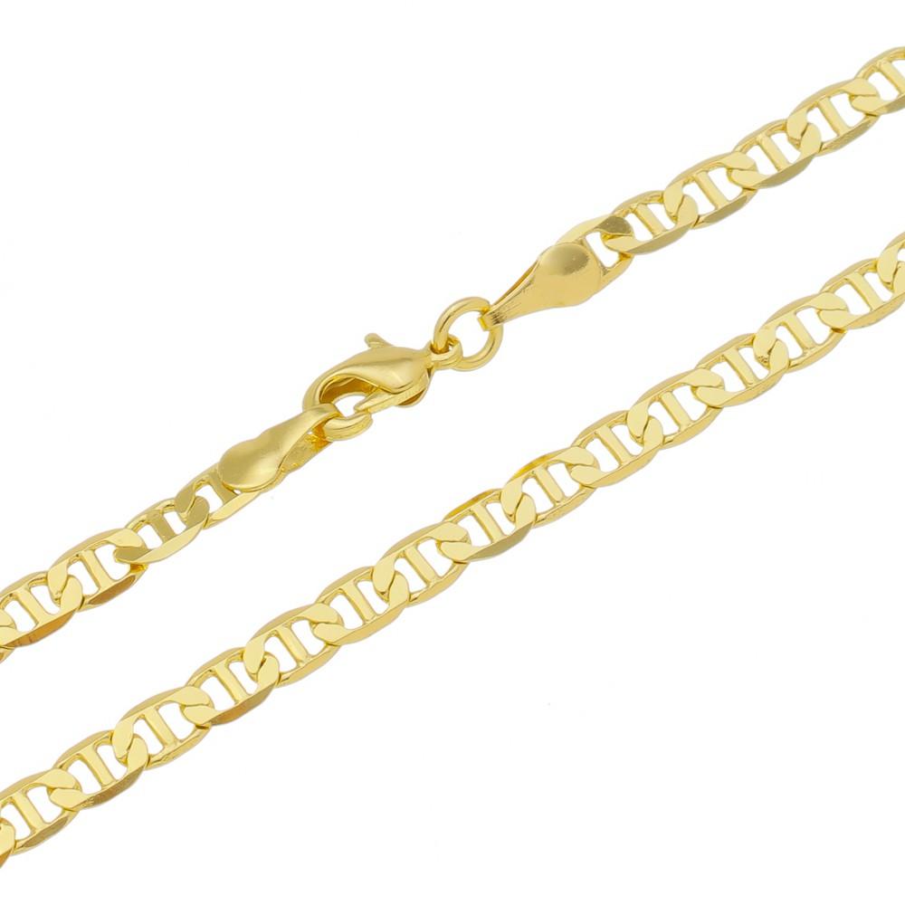 Corrente Guti Folheada a Ouro 18k com 70cm
